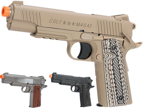 Colt M45A1 CO2 Powered Non-Blowback Airsoft High Power Gas Pistol