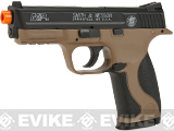 Smith and Wesson M&P40 CO2 Powered Non-Blowback Airsoft Pistol (Color: Tan / Black)