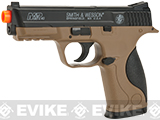 z Smith and Wesson M&P40 Spring Powered Airsoft Pistol with Dark Earth Frame by Softair