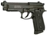 SwissArms PT92 Full Metal CO2 Powered Blowback 4.5mm Air Pistol (4.5mm AIRGUN NOT AIRSOFT) (Color: Black)