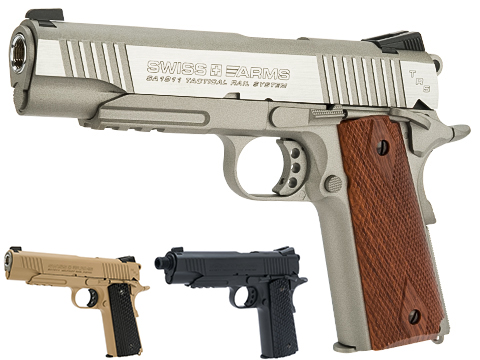 Swiss Arms SA 1911 MRP CO2 Powered Blowback 4.5mm Air Pistol (Color: Silver)