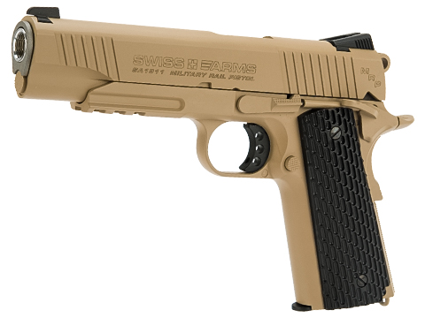 Swiss Arms SA 1911 MRP CO2 Powered Blowback 4.5mm Air Pistol (AIRGUN NOT AN AIRSOFT GUN) (Color: Tan)