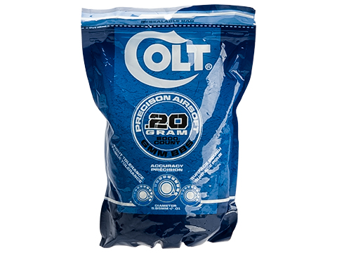 Colt Licensed Premium 6mm High Grade Precision Airsoft BBs (Weight: .20g / 5000 Rounds / White)