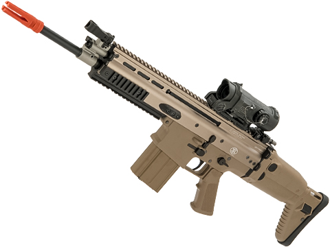 FN Herstal Licensed Full Metal SCAR-H Airsoft AEG Rifle by WE-Tech (Color: Tan / Carbine)
