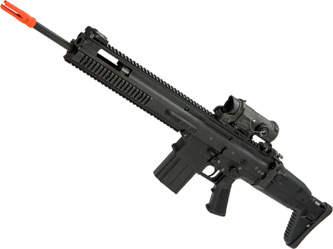 FN Herstal Licensed Full Metal SCAR-H Airsoft AEG Rifle by WE-Tech (Color: Black / SSR)