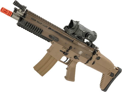 FN Herstal Licensed Full Metal SCAR-L Airsoft AEG Rifle by WE-Tech (Color: Tan / CQB)
