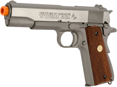 Colt Licensed 1911 Tactical Full Metal CO2 Airsoft Gas Blowback Pistol by KWC (Model: Stainless Classic)