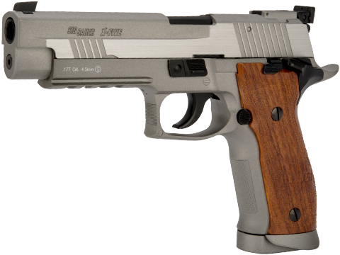 SIG Sauer X-Five CO2 Powered Blowback 4.5mm Airgun Pistol AIRGUN NOT AIRSOFT (Color: Silver)