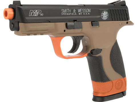 Smith and Wesson M&P40 CO2 Powered Airsoft Gas Pistol (Color: Dual Tone w/ Safety Orange)