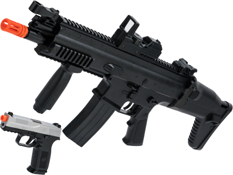 FN Herstal Licensed SCAR-L LPAEG Airsoft and FNS-9 Spring Powered Pistol Kit by Cybergun
