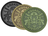 Hazard 4 Aquatic Division Rubber Hook and Loop Patch
