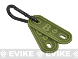 Hazard 4 Blood Type PVC Marker Patch - Set of 2 / B Negative / OD Green
