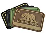 Hazard 4 California Bear Flag Rubber Hook and Loop Patch