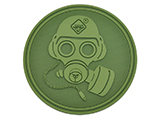 Hazard 4 Special Forces Gas Mask Rubber Hook and Loop Patch (Color: OD Green)