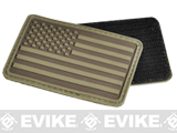 Hazard 4 US Flag Rubber Hook and Loop Patch (Style: Left Arm / Coyote)