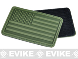 Hazard 4 US Flag Rubber Hook and Loop Patch (Style: Left Arm / OD Green)