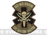 Mil-Spec Monkey Do No Harm - Pirate Hook and Loop Patch - Forest
