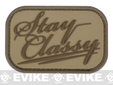 Mil-Spec Monkey Stay Classy PVC Hook and Loop Patch - Desert