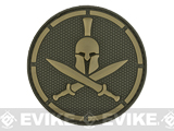 Mil-Spec Monkey Spartan Helmet PVC Hook and Loop Patch - Multicam