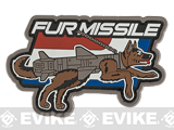 Mil-Spec Monkey Fur Missile PVC Morale Patch - Full Color