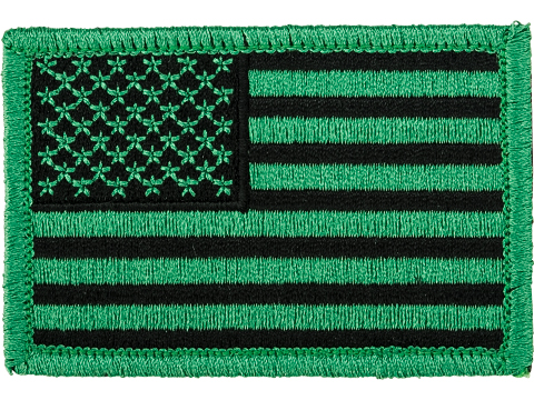Matrix Hook and Loop U.S. IFF Flag Patch (Color: Green / Regular)