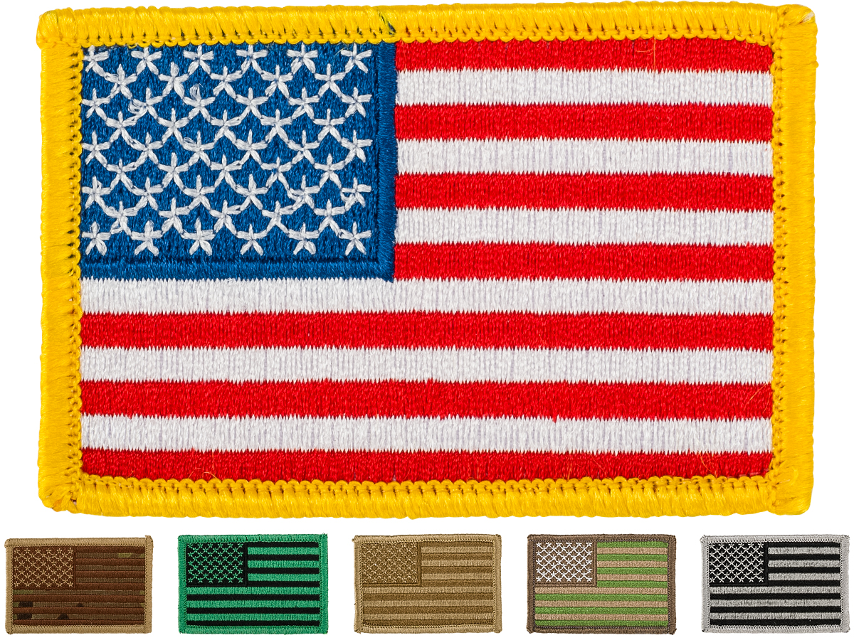 Matrix Hook and Loop U.S. IFF Flag Patch (Color: Full Color / Regular)