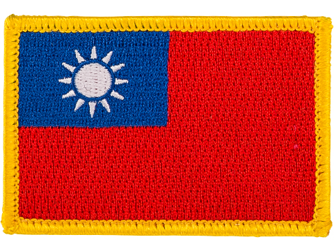 Matrix Country Flag Series Embroidered Morale Patch (Country: Taiwan)