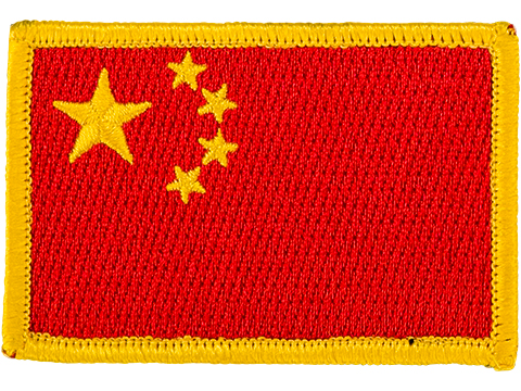 Matrix Country Flag Series Embroidered Morale Patch (Country: China)