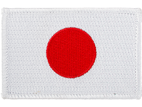 Matrix Country Flag Series Embroidered Morale Patch (Country: Japan)