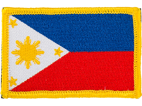 Matrix Country Flag Series Embroidered Morale Patch (Country: Phillipines)