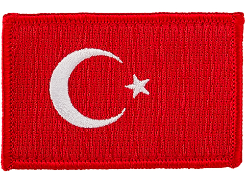 Matrix Country Flag Series Embroidered Morale Patch (Country: Turkey)