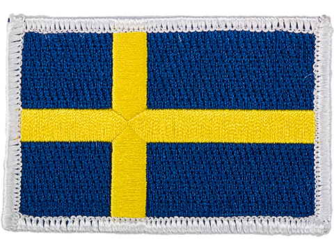 Matrix Country Flag Series Embroidered Morale Patch (Country: Sweden)