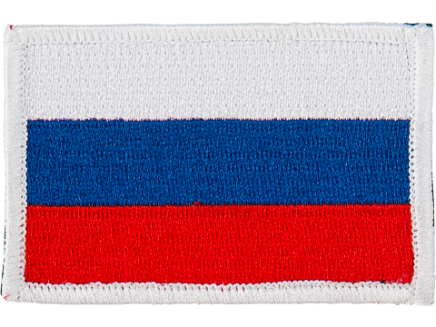 Matrix Country Flag Series Embroidered Morale Patch (Country: Russian Federation)