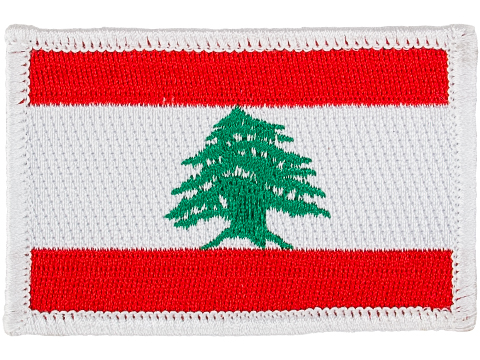 Matrix Country Flag Series Embroidered Morale Patch (Country: Lebanon)