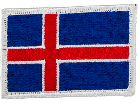 Matrix Country Flag Series Embroidered Morale Patch (Country: Iceland)
