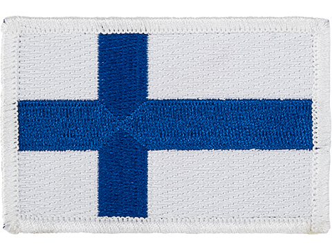 Matrix Country Flag Series Embroidered Morale Patch (Country: Finland)