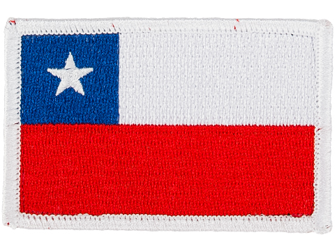 Matrix Country Flag Series Embroidered Morale Patch (Country: Chile)