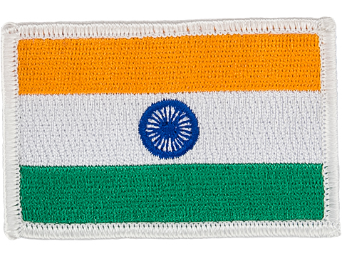 Matrix Country Flag Series Embroidered Morale Patch (Country: India)