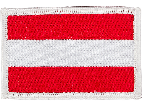 Matrix Country Flag Series Embroidered Morale Patch (Country: Austria)