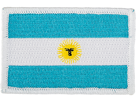 Matrix Country Flag Series Embroidered Morale Patch (Country: Argentina)