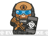 Epik Panda Evike Matt PVC Rubber Hook and Loop Morale Patch - Tan