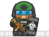 Epik Panda Evike Matt PVC Rubber Hook and Loop Morale Patch - OD