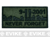High Quality Embroidered Never Forget 911 Hook and Loop Patch - OD