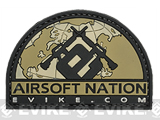 Evike.com Airsoft Nation II PVC Morale Patch (Color: Tan)