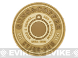 Evike.com Guns & Coffee Brand PVC Hook & Loop Patch (Color: Tan)