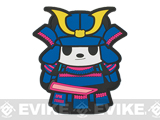Epik Panda Panda Samurai PVC Rubber Hook and Loop Morale Patch - Light (Blue)