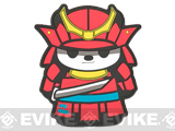 Epik Panda Panda Samurai PVC Rubber Hook and Loop Morale Patch - Thunder (Red)