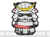Epik Panda Panda Samurai PVC Rubber Hook and Loop Morale Patch - Ghost (White)