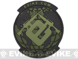 Evike.com Airsoft Nation PVC Morale Patch - OD Green