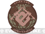 Evike.com Airsoft Nation PVC Morale Patch - Land Camo